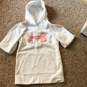 BRAND NEW XS White Hoodie with Pink Camo